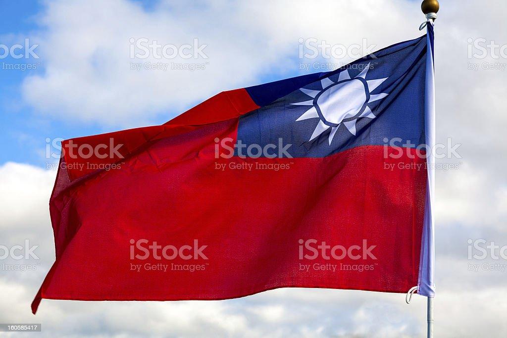 Taiwanese flag royalty-free stock photo