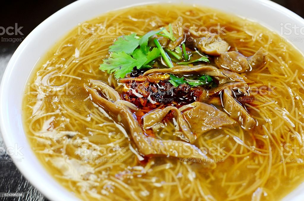 Taiwanese pork intestine vermicelli stock photo
