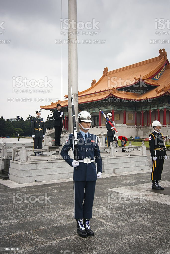 Taiwanese soldier royalty-free stock photo