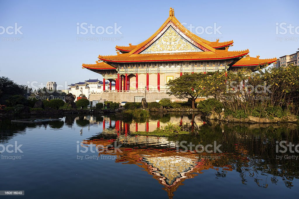Taiwan's National Theater and Guanghua Ponds stock photo