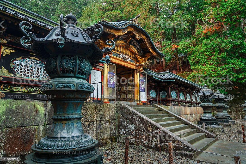 Taiyuinbyo Shrine in Nikko, Japan stock photo
