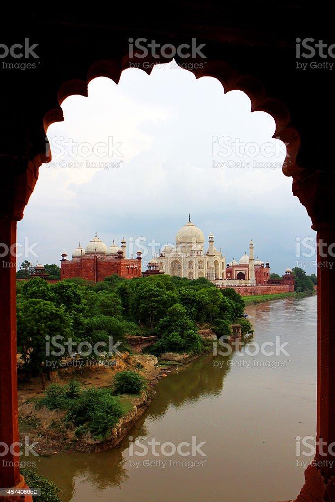 Taj Mahal, Agra, India. stock photo