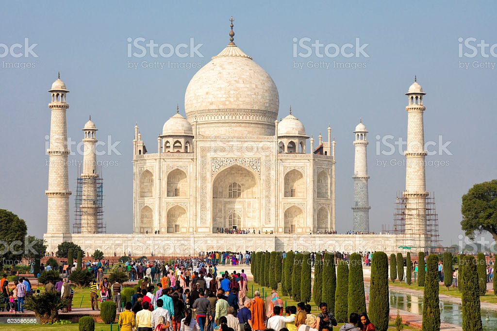 Taj Mahal, Agra, Uttar Pradesh, Rajasthan, India, Asia stock photo