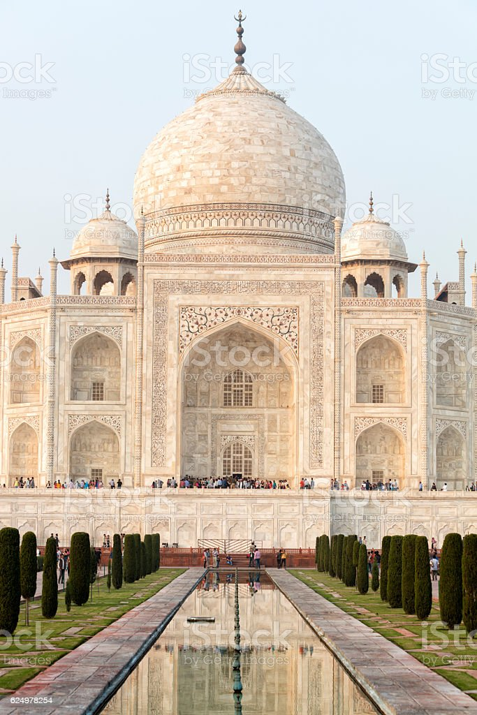 Taj Mahal, Agra, Uttar Pradesh, Rajasthan, India, Asia stock photo