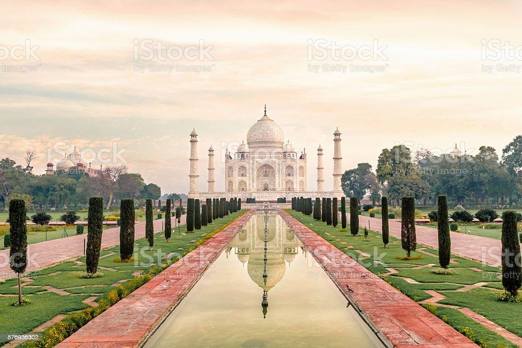 Taj Mahal, Agra-India stock photo