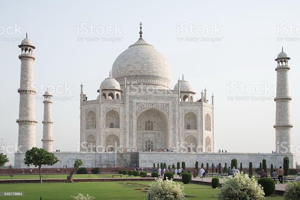 Taj Mahal at Agra, India stock photo