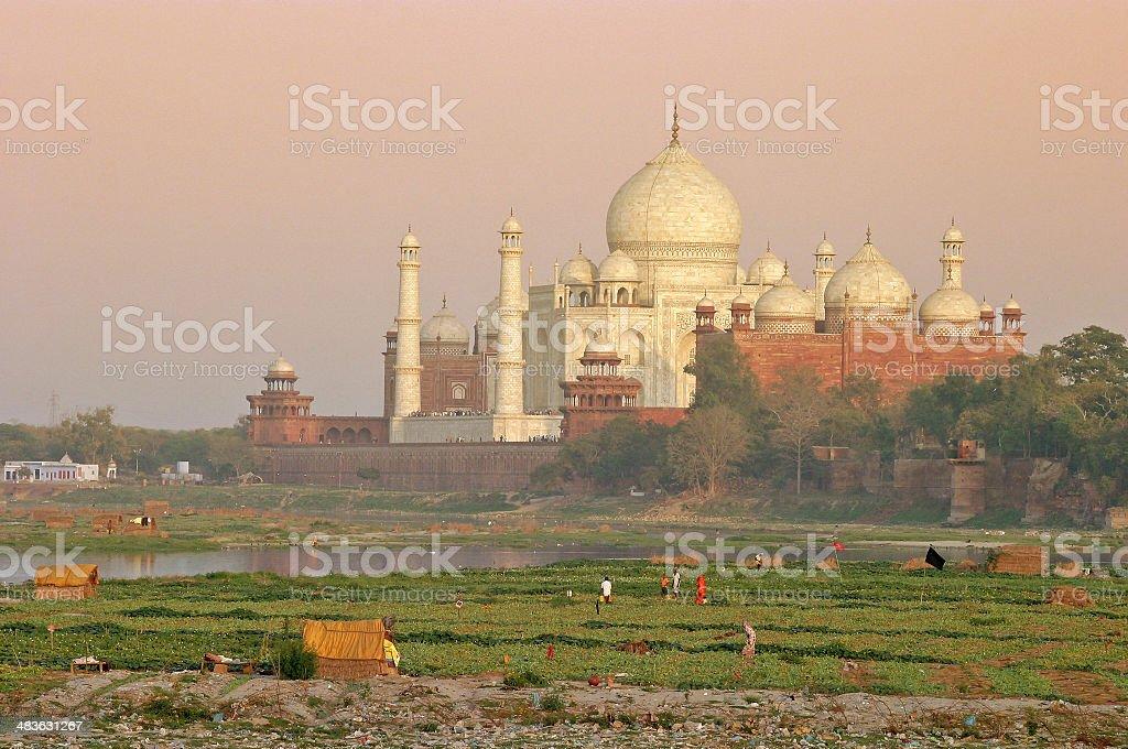 Taj Mahal At Dusk royalty-free stock photo