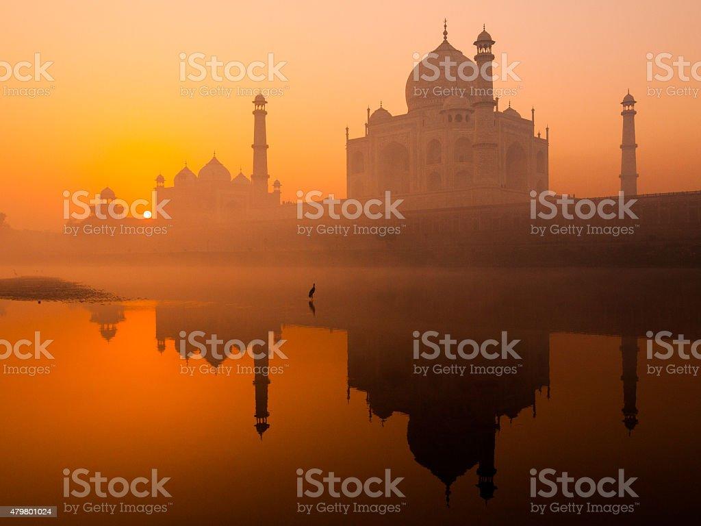 Taj Mahal at Sunrise stock photo