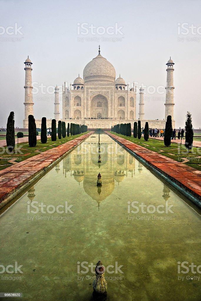 Taj Mahal at sunset, Agra, Uttar Pradesh, India. royalty-free stock photo