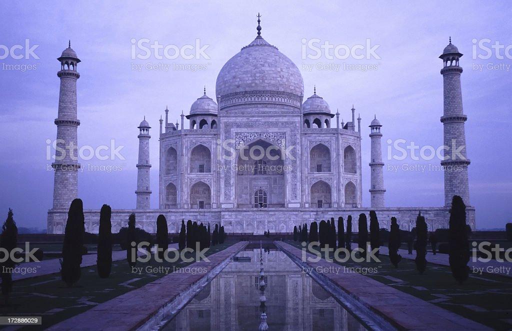Taj Mahal before sunrise stock photo