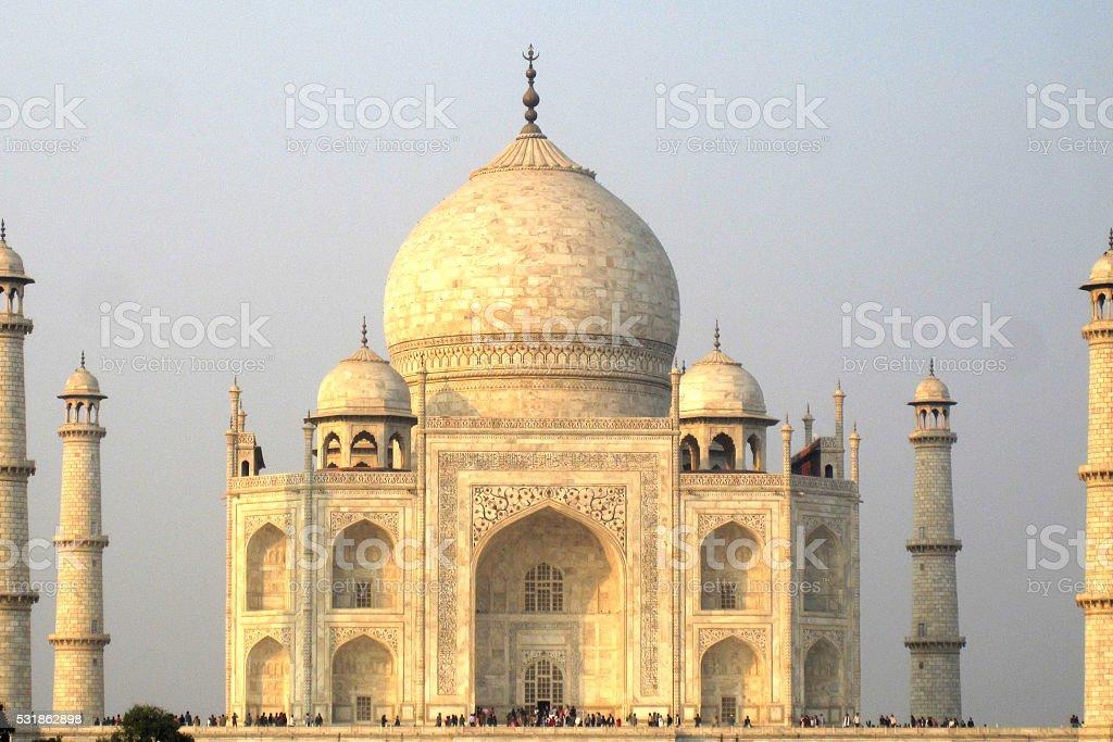 Taj Mahal corner to corner with clear sky stock photo