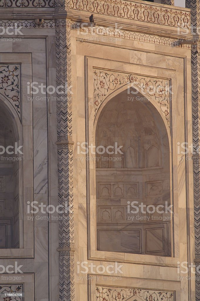 Taj Mahal detail royalty-free stock photo