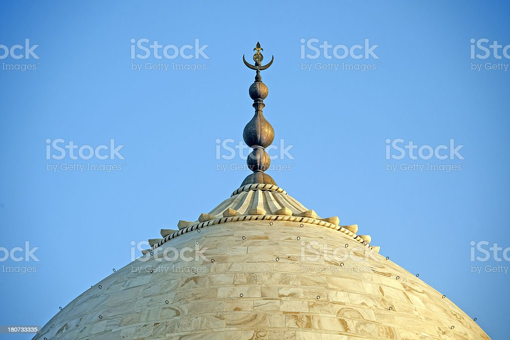Taj Mahal, Dome. royalty-free stock photo