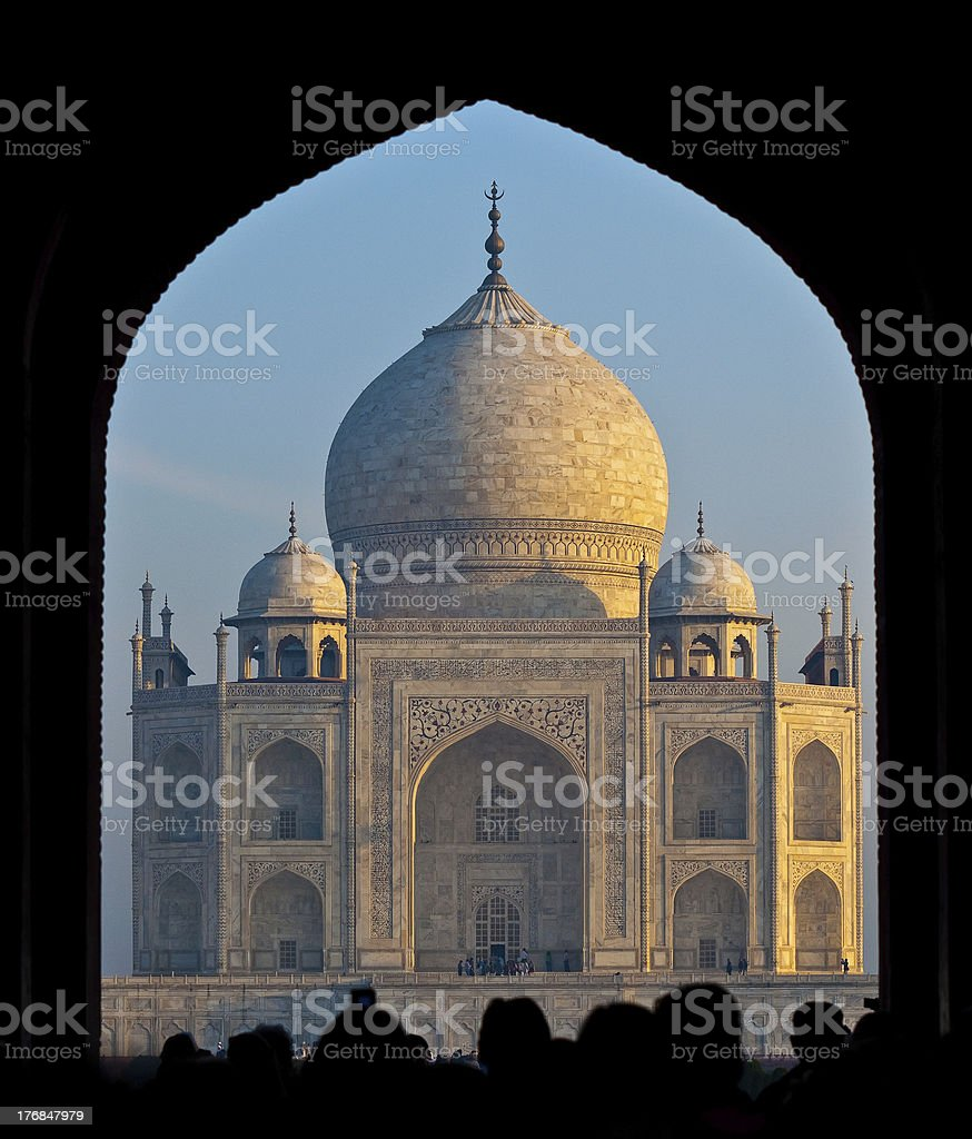 Taj Mahal entrée photo libre de droits