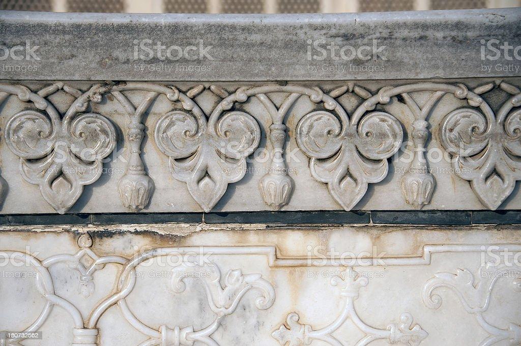 Taj Mahal - exterior decoration royalty-free stock photo