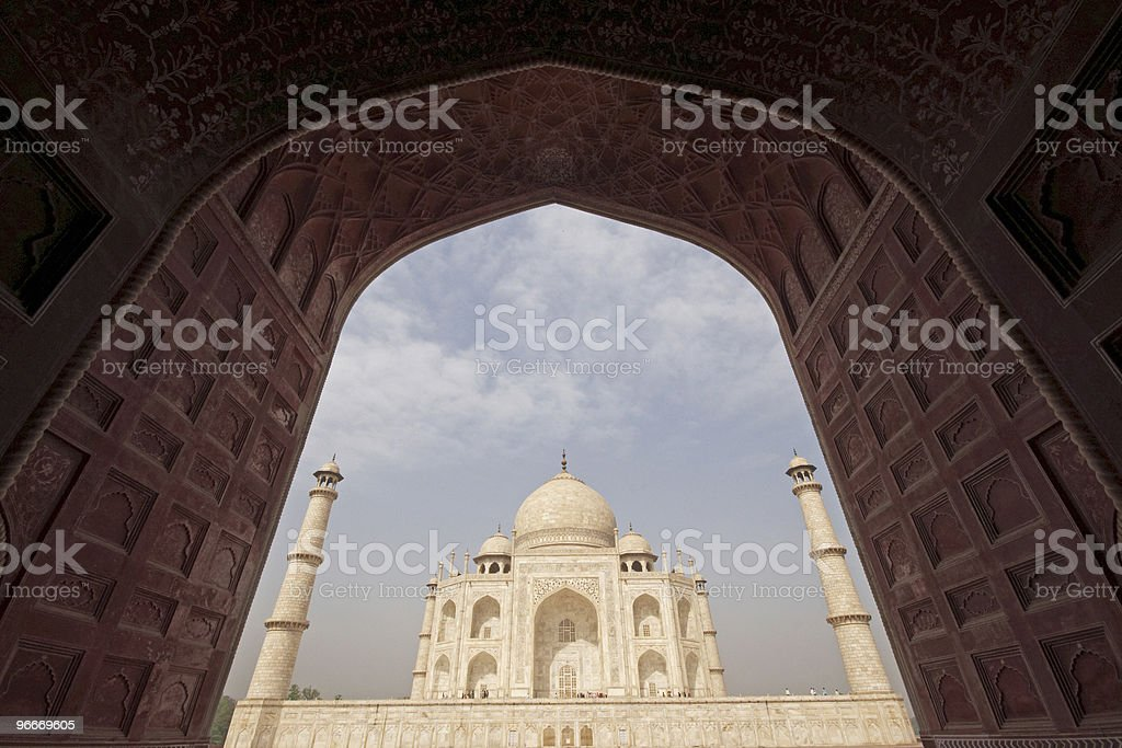 Taj Mahal Framed royalty-free stock photo