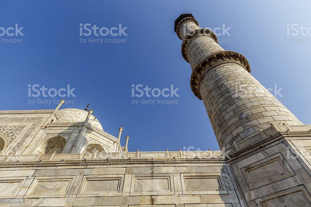 Taj Mahal from below royalty-free stock photo