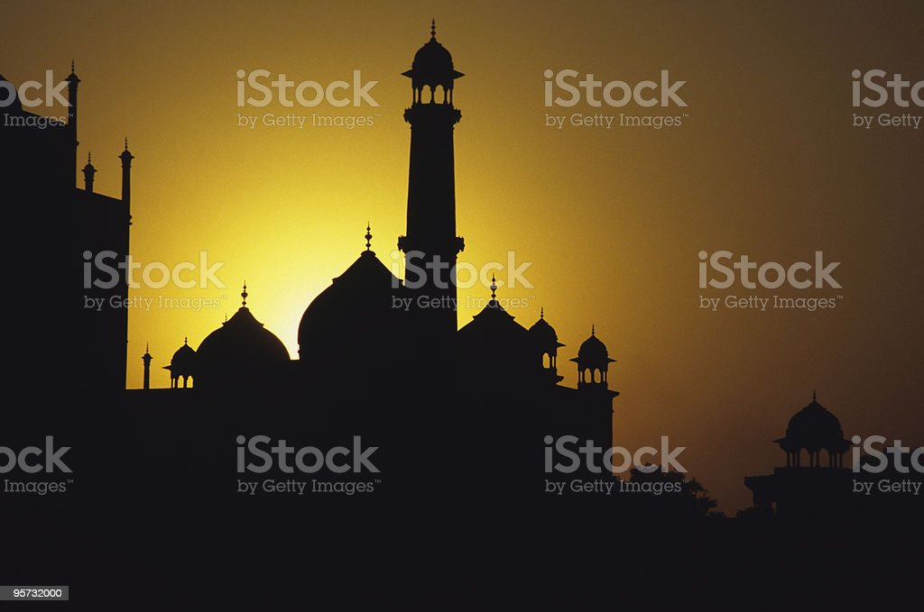Taj Mahal Halo, Agra, India stock photo