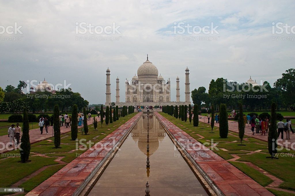 Taj Mahal horizontal stock photo