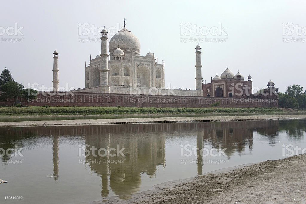 Taj Mahal in Agra India Asian Historic Monuments Seven Wonders stock photo