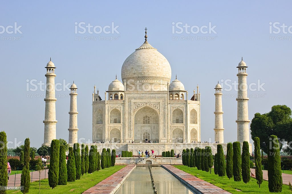 Taj Mahal in Agra, India royalty-free stock photo