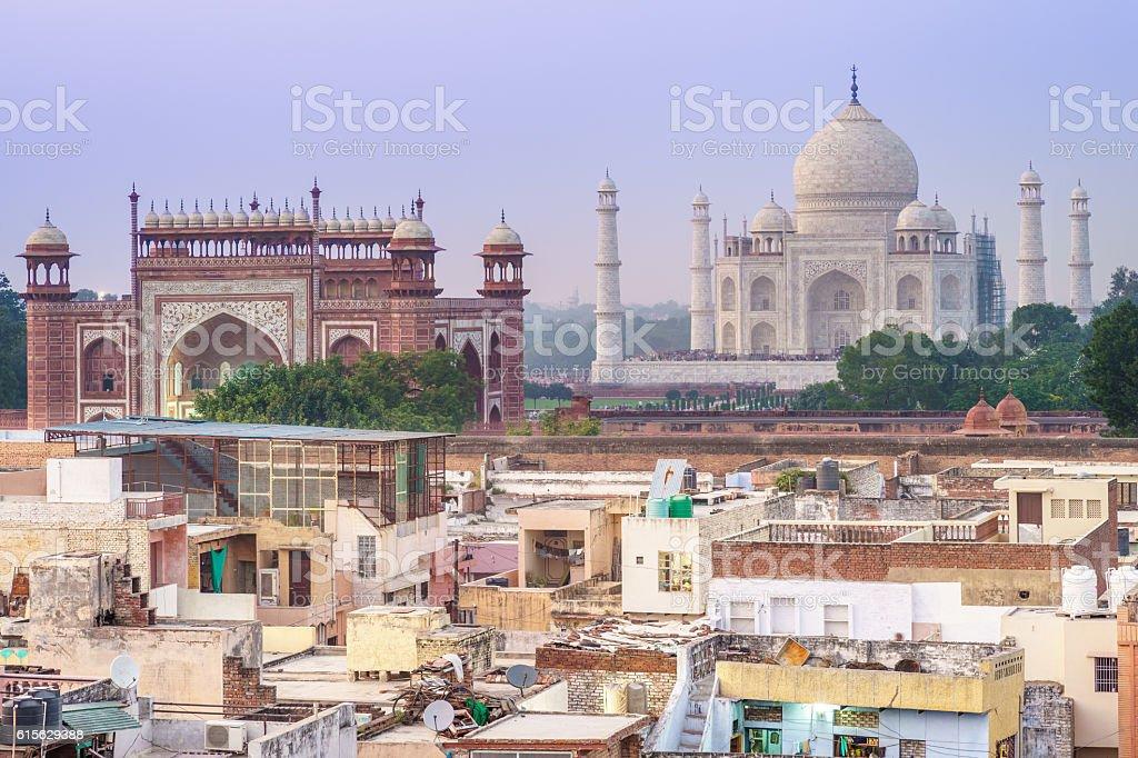 Taj Mahal in Agra, India stock photo