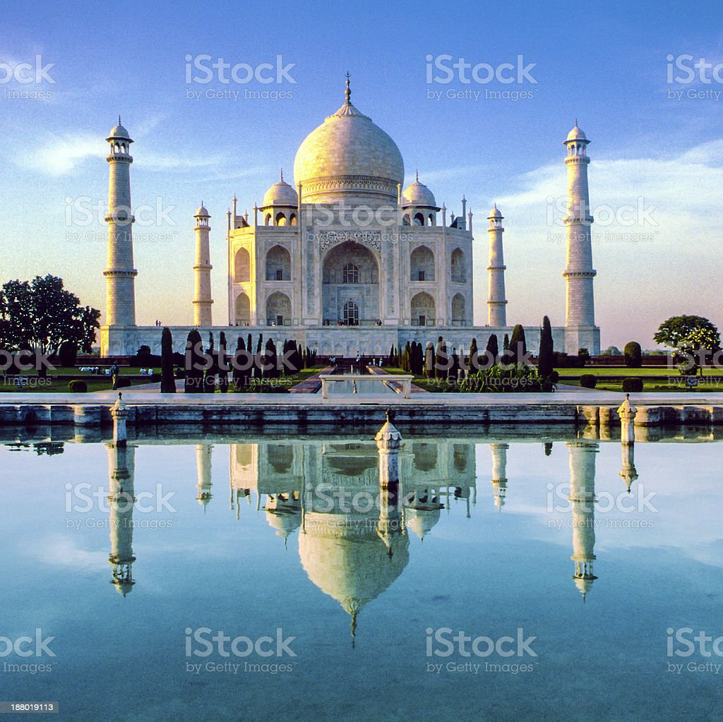 Taj Mahal in Agra stock photo