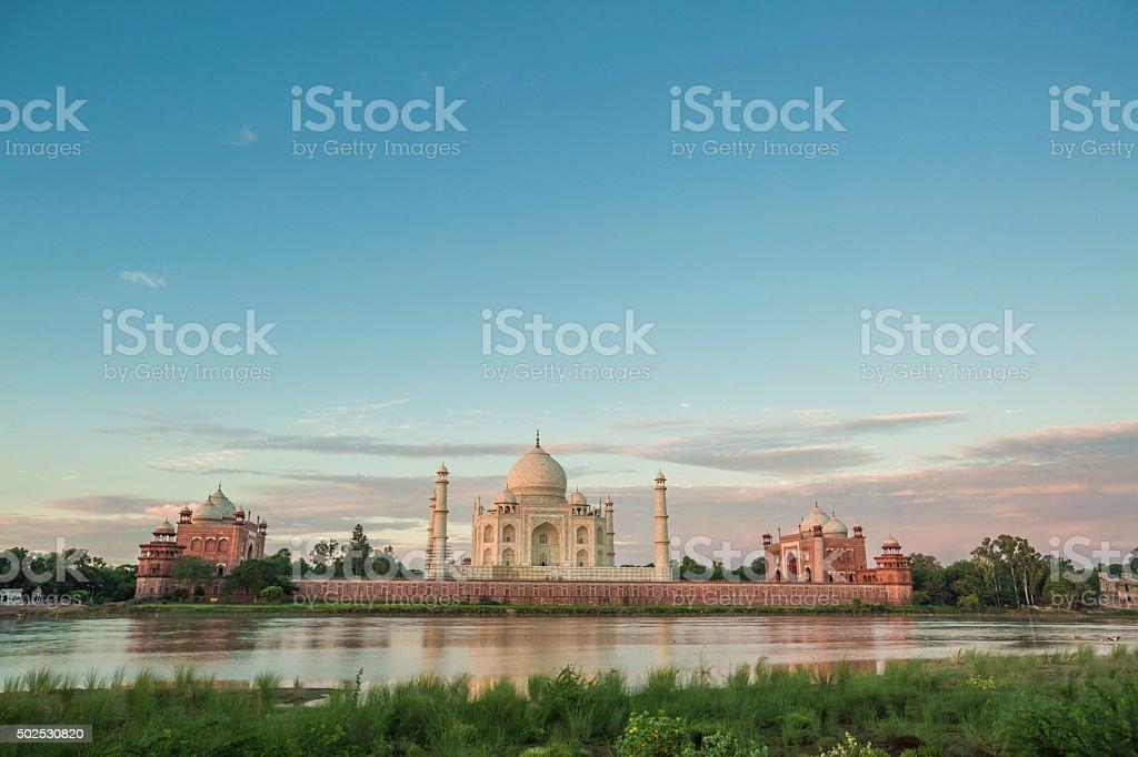 Taj Mahal in Agra stock photo