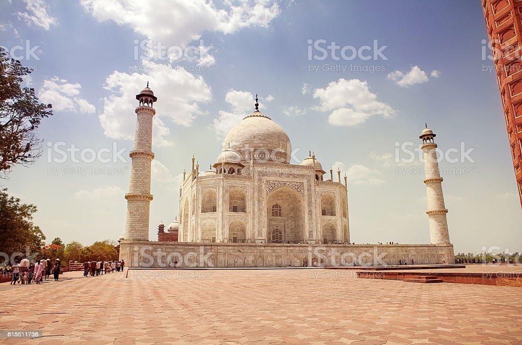 Taj Mahal in Agra, Uttar Pradesh stock photo