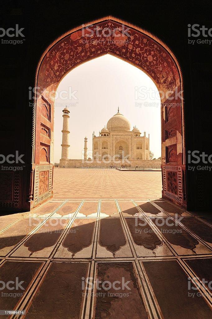 Taj Mahal in frame stock photo