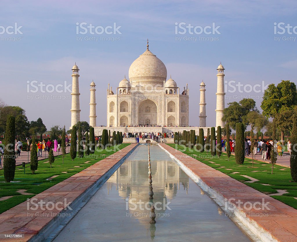 Taj Mahal in reflection royalty-free stock photo