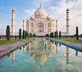 Taj Mahal in sunrise light., Agra, India