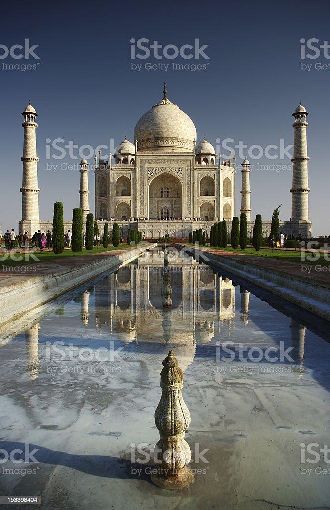 Taj mahal in the morning royalty-free stock photo