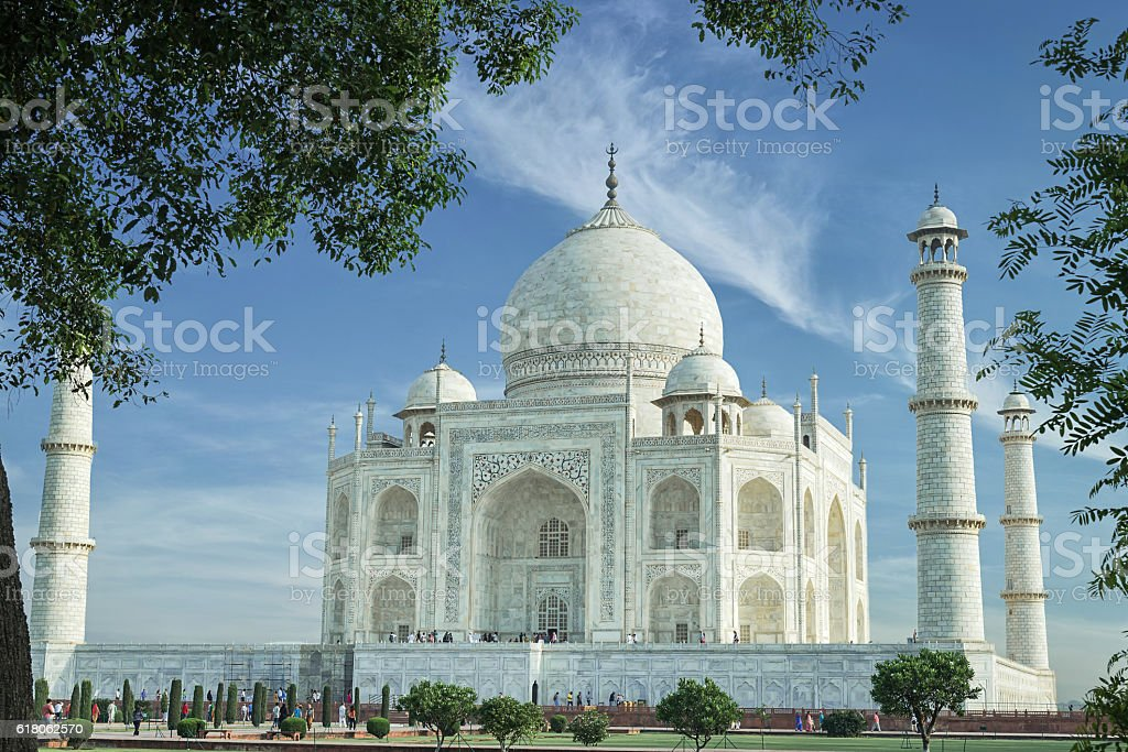 Taj Mahal, India. A famous historical monument . stock photo