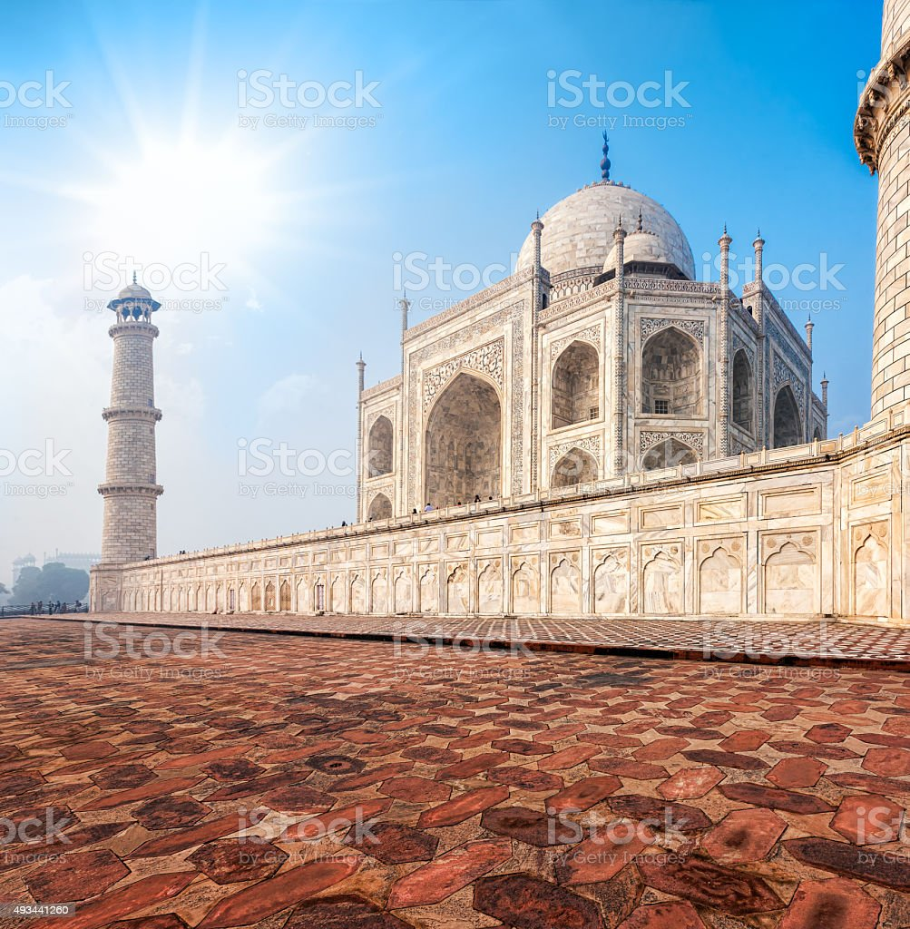Taj Mahal, India. stock photo