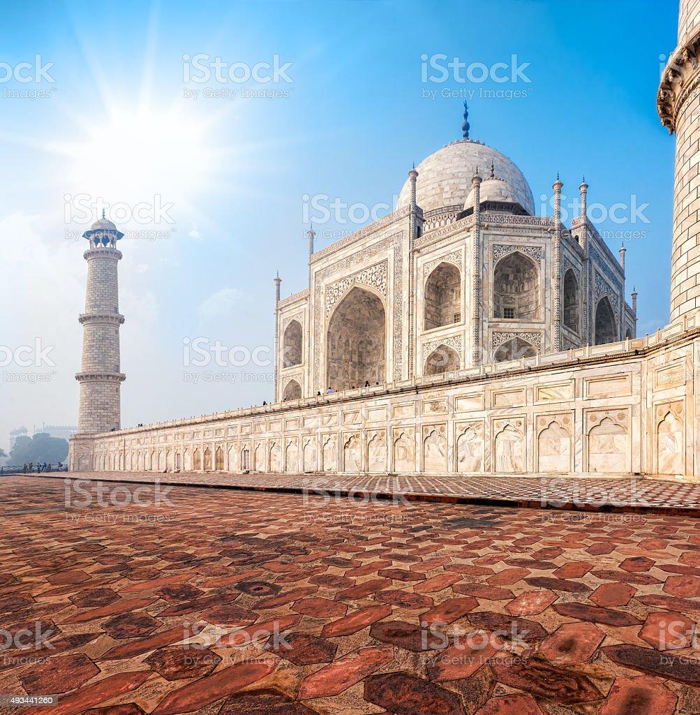 Taj Mahal, India. stock photo