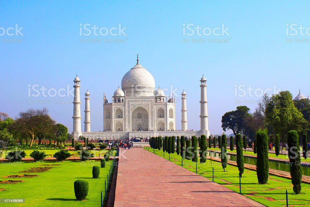 Taj Mahal mausoleum, Agra, India stock photo