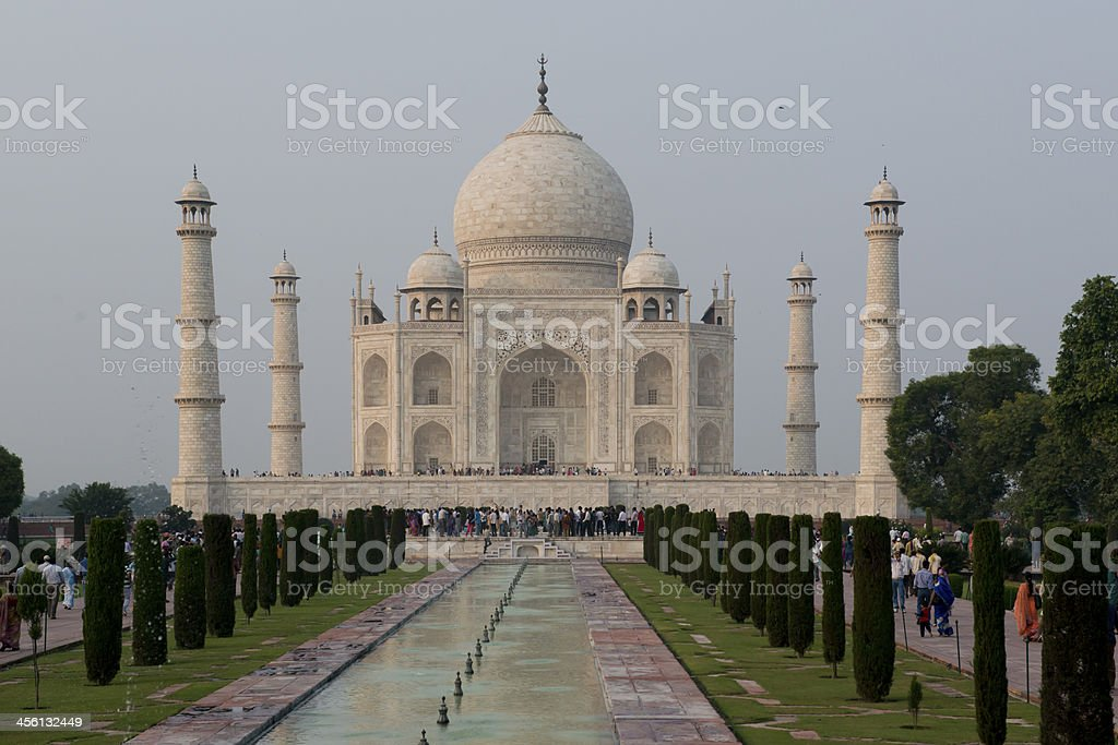 Taj Mahal, Mausoleum in Agra stock photo