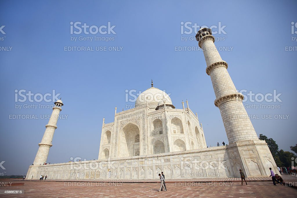 Taj Mahal mausoleum landmark located in Agra, India stock photo