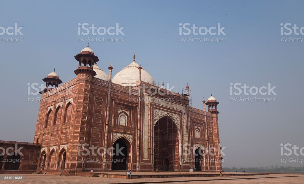 Taj Mahal Mosque stock photo