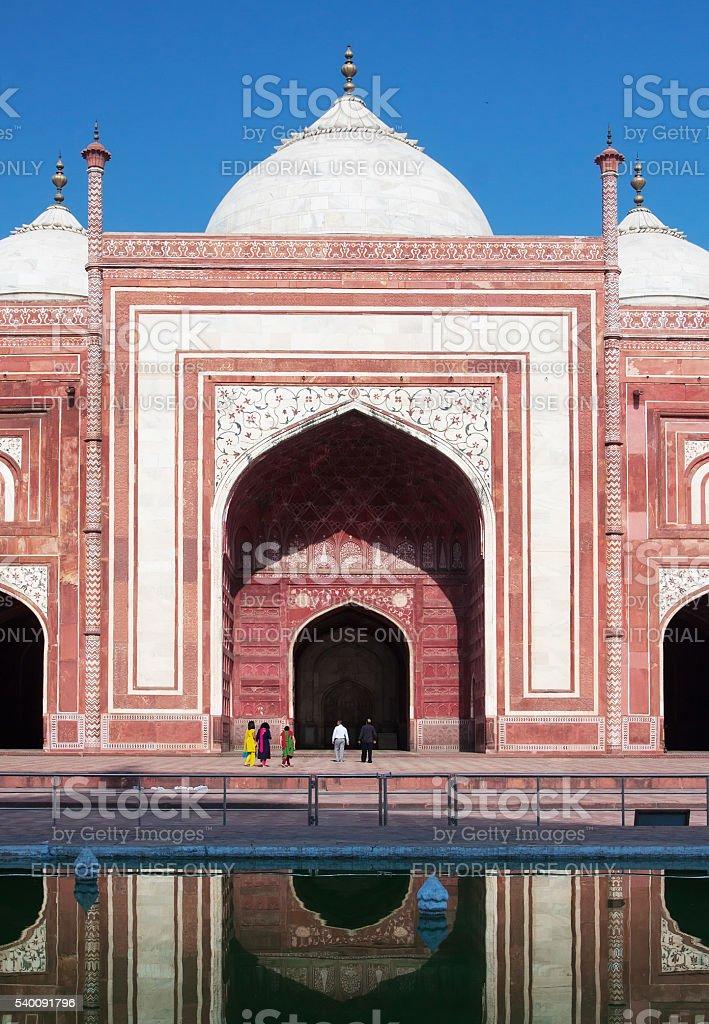 Taj Mahal Mosque stock photo