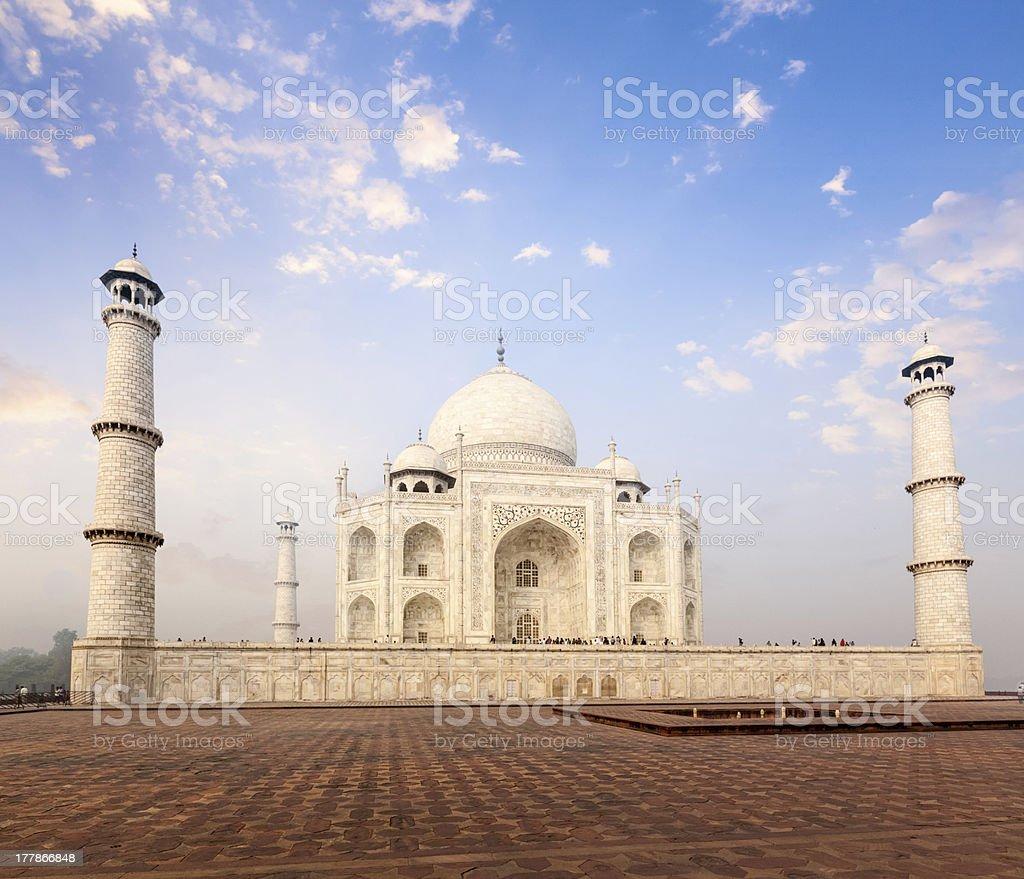 Taj Mahal on sunrise sunset, Agra, India royalty-free stock photo