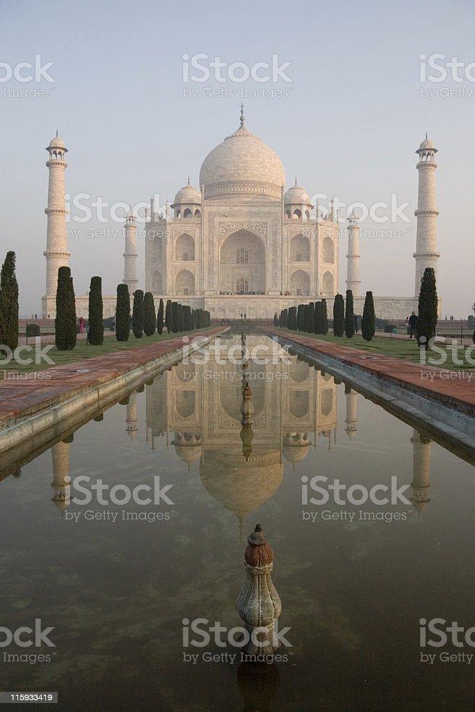 Taj Mahal Reflecting Pool royalty-free stock photo