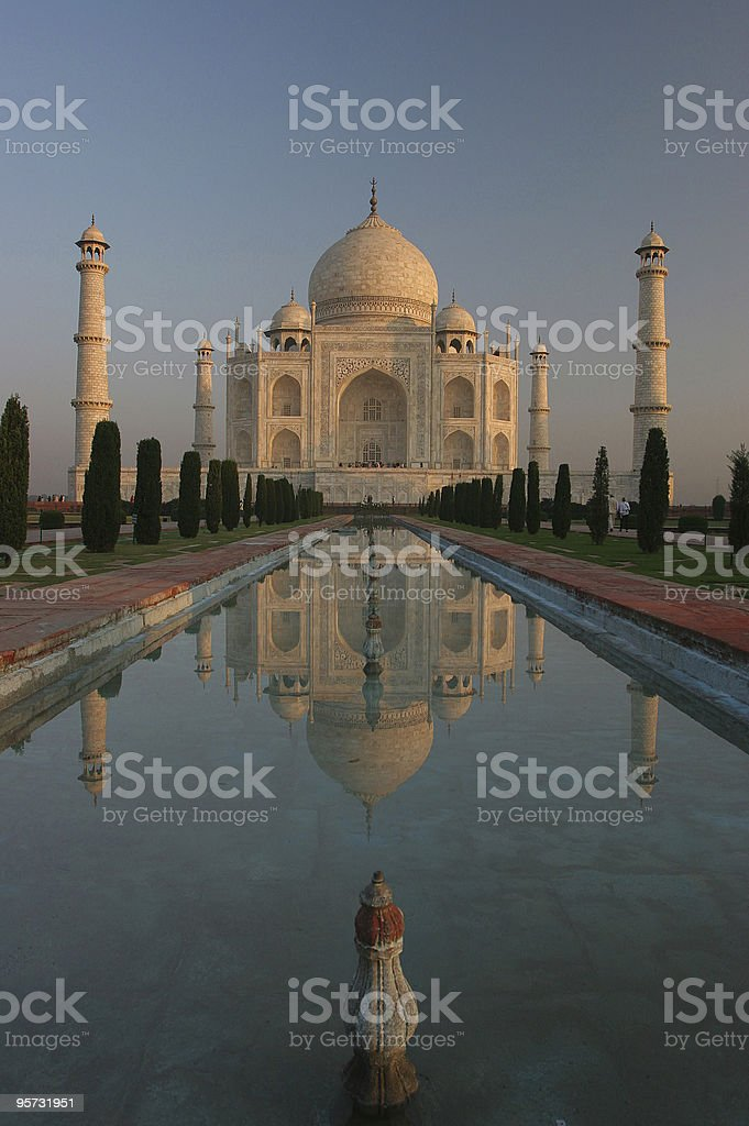 Taj Mahal Reflection, Agra, India stock photo