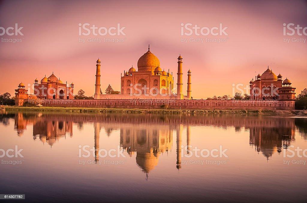 Taj Mahal reflection stock photo