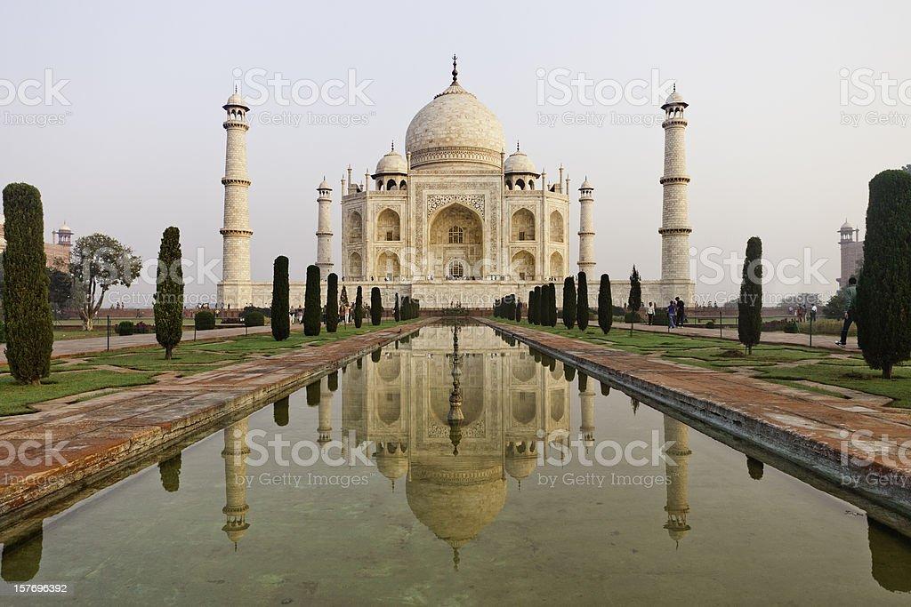 Taj Mahal Reflections stock photo