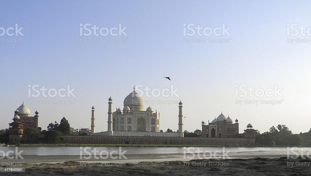 Taj Mahal riverside stock photo