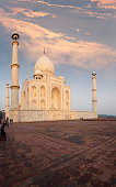 Taj Mahal Side Sunrise Fiery Sky