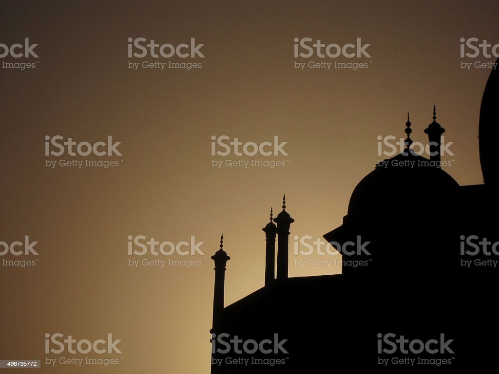 Taj Mahal Silhouette stock photo