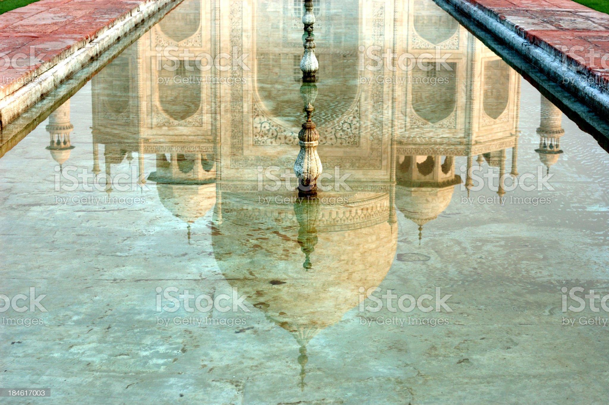 Taj Mahal sunrise reflection royalty-free stock photo